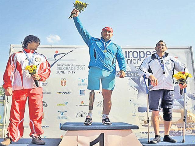 Şerban Iulian-campionul european la paracanoeing
